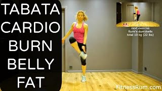 RU57 20 Minute Tabata Cardio Workout Burn Belly Fat And Tone Total Body Exercises Level 2