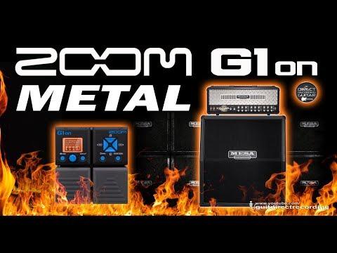 ZOOM G1on METAL G1xon MESA BOOGIE Simulation [Free Settings].