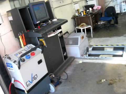 smog check machine with dyno
