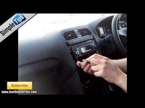 Radio Removal Volkswagen Polo (2009-2013) MK5 | JustAudioTips
