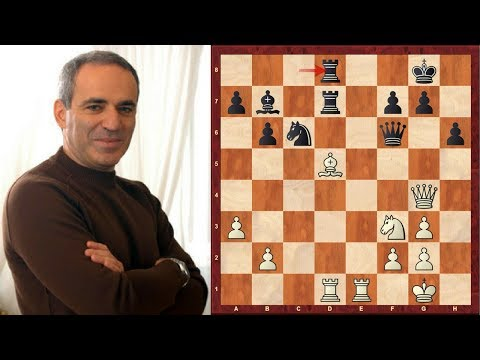 Classic Chess Game: How doubling rooks can backfire! Kasparov's quickest win vs Karpov