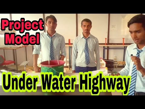 Underwater Highway [ Tunnel ] Model || Civil Engineering Projects || RRSIMT || Hindi ||