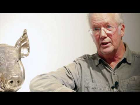 Pop Artist Clive Barker discussing his latest works at Whitford Fine Art, video by Zoe Phillips