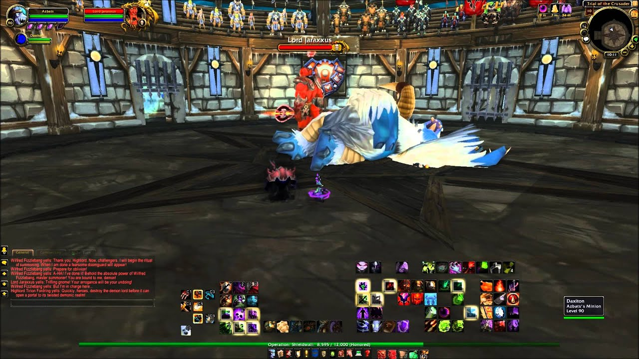 Wow Raid Boss Es 101 Solo Trial Of The Crusader Youtube