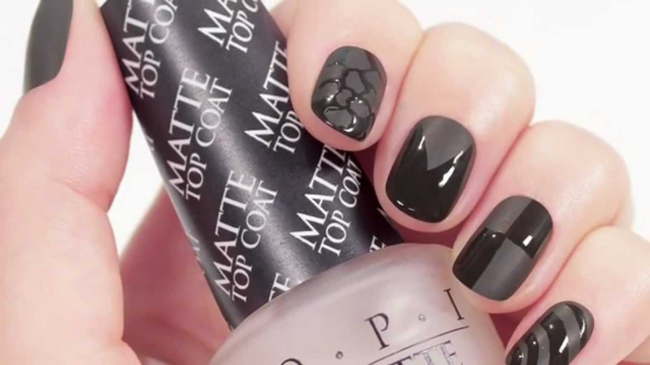 OPI Matte Top Coat | Matte French Mani Tutorial - YouTube