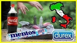 Italian soil + coke + mentos Made in Italy
