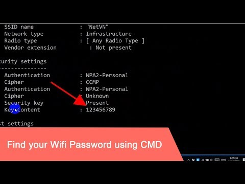 CMD : Show Wi-Fi Password | Windows 10/8/7/XP