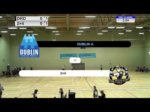 Dublin Roller Derby vs 2x4 Team OSOM 2018-01-27