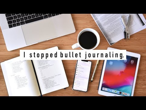 why I stopped bullet journaling for 6 months