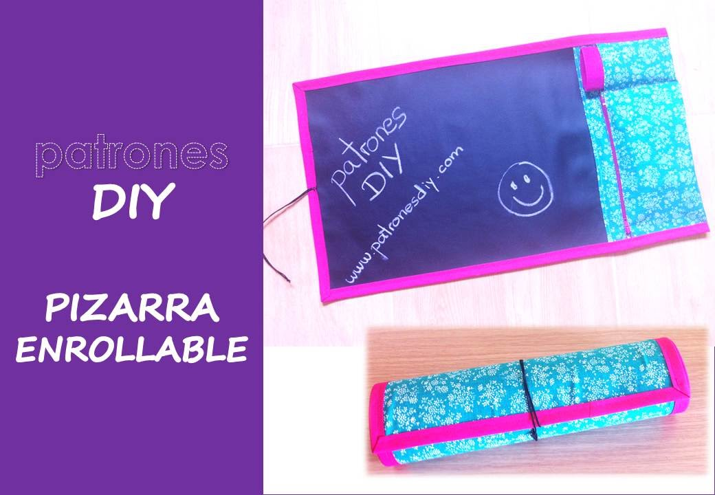 Patrones diy tutorial pizarra enrollable youtube - Tela asfaltica de pizarra ...
