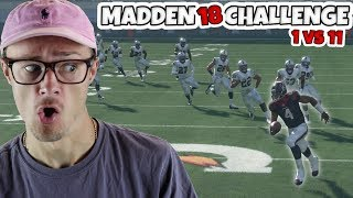 Can I Make it Through a BRICK WALL of DEFENDERS WITHOUT ANY BLOCKING!? Madden 18 Challenge