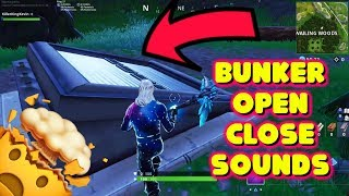 LEAKED WAILING WOODS BUNKER OPENING AND CLOSING SOUNDS IN FORTNITE