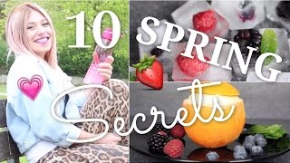 10 easy SPRING SECRETS / HACKS ♥ BibisBeautyPalace