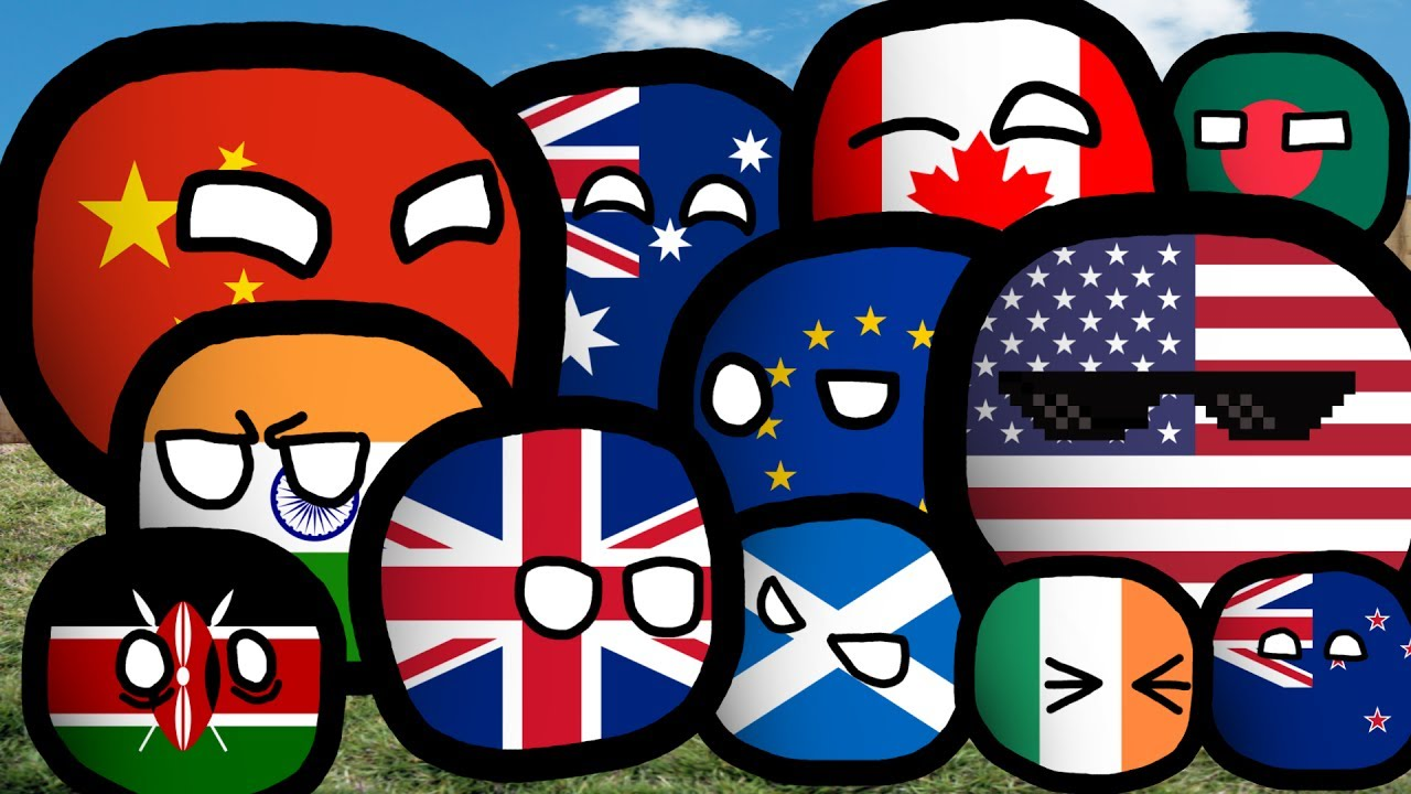 Drawing Countryballs 1 France Uk Germany Youtube