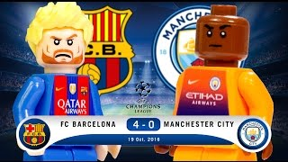 LEGO FC Barcelona 4 - 0 Manchester City Champions League 2016 / 2017 Group C