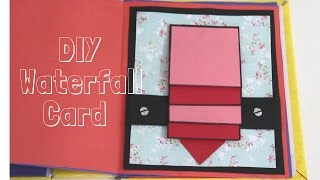 How to make - Waterfall Card (basic) | Easy and basic card Idea for Thanksgiving