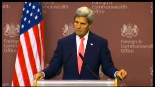 Secretary Kerry Delivers Remarks With United Kingdom Foreign Secretary Hague