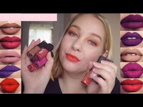 Review Lip Swatch Avon Mark Liquid Lip Lacquer Matte Olivia