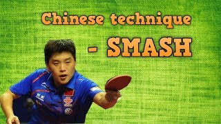 Forehand Smash Table Tennis Technique