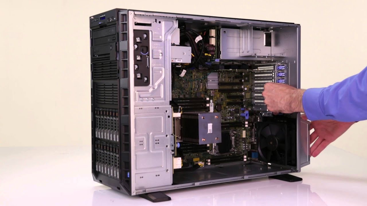 dell poweredge  t430 remove install sas tape drive
