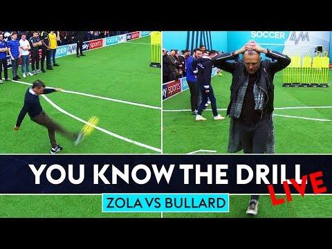 Zola goes for top bins!   Jimmy Bullard vs Gianfranco Zola Free Kick Challenge   You Know The Drill