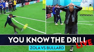 Zola goes for top bins! | Jimmy Bullard vs Gianfranco Zola Free Kick Challenge | You Know The Drill