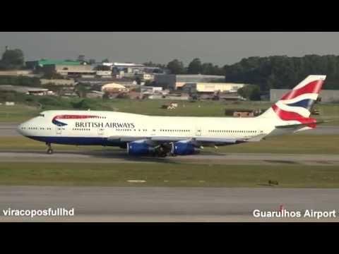 British 747-400 Decolagem em Guarulhos São Paulo