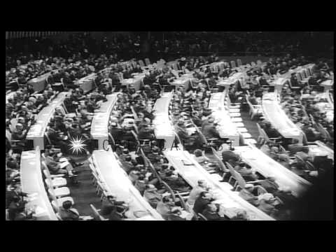 Meeting of United Nations General Assembly in New York. HD Stock Footage