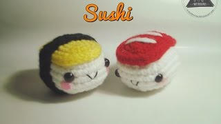 How To Crochet Sushi Amigurumi [full Tutorial]