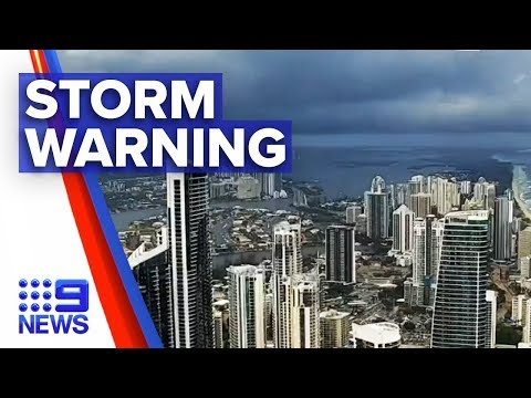 Severe Storm Warning Issued For Gold Coast | Nine News Australia