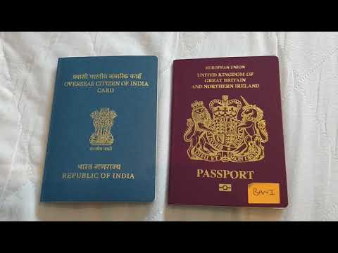 Process Of Indian OCI Card Booklet