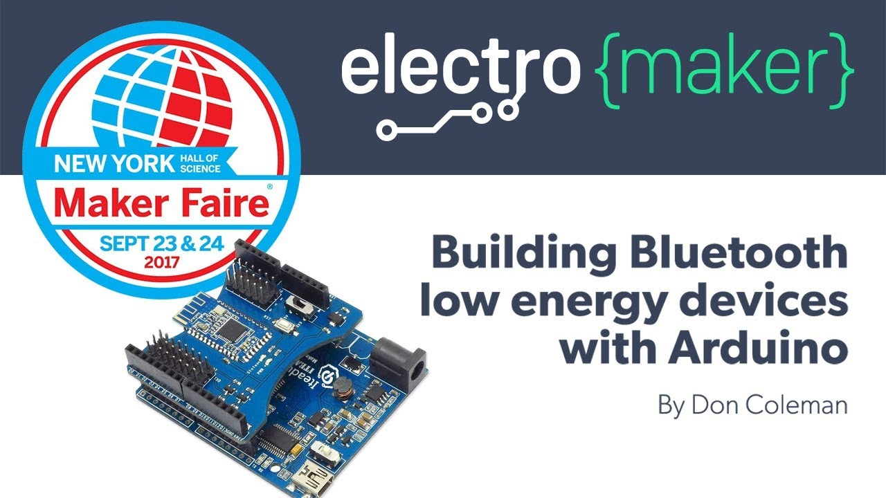 Building Bluetooth Low Energy Devices With Arduino Youtube