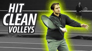 How to Hit CLEAN Volleys (Tennis Technique & Drills)