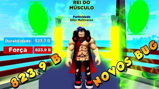 NOVO BUG!! DO NIVEL 1 80 DE FORÇA POR SOCO CONSEGUI 823.9 BILHÕES DE FORÇA NO MUSCLE LEGENDS! roblox