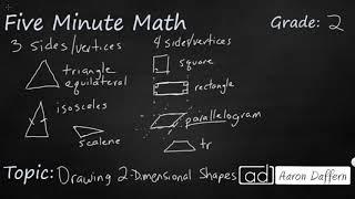2nd Grade Math Drawing 2-Dimensional Shapes