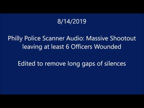 Philly Police Scanner| 8/14 Massive Shootout | Edited to remove long gaps  of silent transmissions