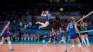 TOP 50 Best Women's Volleyball Spikes | 3rd Meter Spikes | Powerful Spikes