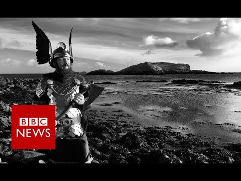 Up Helly Aa: Bike-riding Vikings (360 video)- BBC News