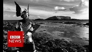 Up Helly Aa: Bike-riding Vikings (360 video)- BBC News
