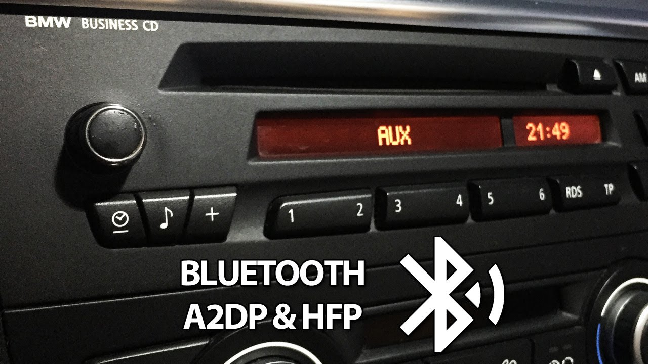 Bmw Bluetooth Install For Business Cd Radio Aux A2dp Usb Youtube