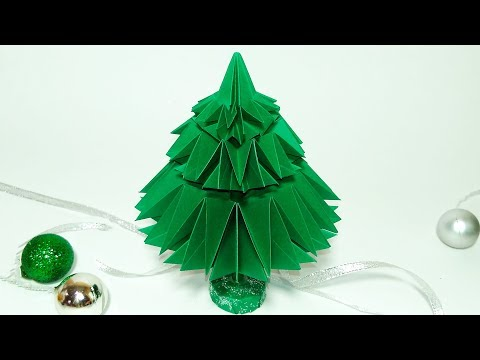 NEW easy origami Christmas tree. Paper Christmas tree. Ideas for Christmas