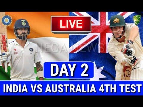 LIVE SCORE I india Vs Australia 4th Test match live Streaming I ind vs aus I Day 2