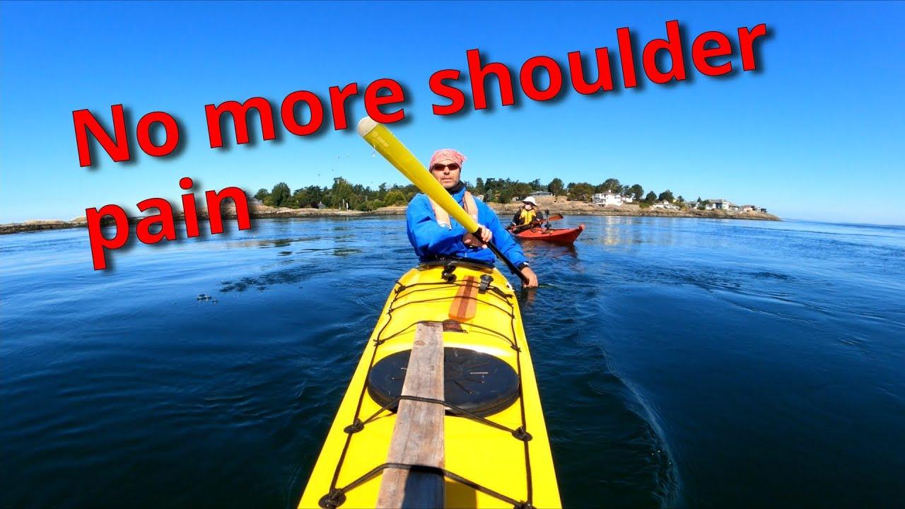 Sea kayaking without shoulder pain | sea kayak with Greenland paddle