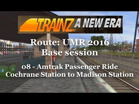 TrainZ: A New Era - Route: UMR 2016 - Amtrak Passenger - 08 Cochrane Station to Madison Station