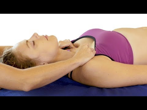 Massage Tutorial For Neck, Chest & Head, Soft Speaking with Relaxing Music