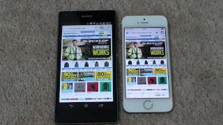 SONY XPERIA Z1 VS IPHONE 5S BROWSING SPEED COMPARISON