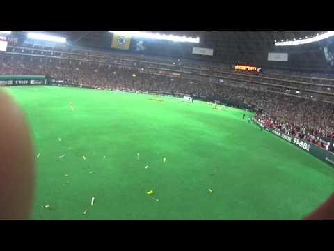 2014年 日本シリーズ第5戦 福岡ソフトバンクホークスvs阪神タイガース 日本一決定瞬間 レフトスタンドより