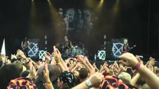 Crashdiet - Intro+Breaking The Chains+Down With The Dust (Live at Sweden Rock 8/6 2011)