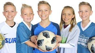 5 SOCCER GAMES in 1 Day ⚽️ Soccer Family