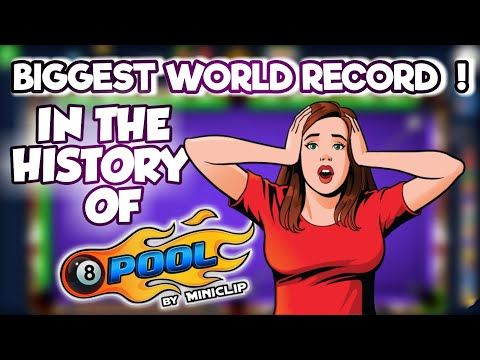BIGGEST WORLD RECORD 😵 IN THE HISTORY OF 8BP 🎱 MADE BY ME - 8 BALL POOL BY MINICLIP